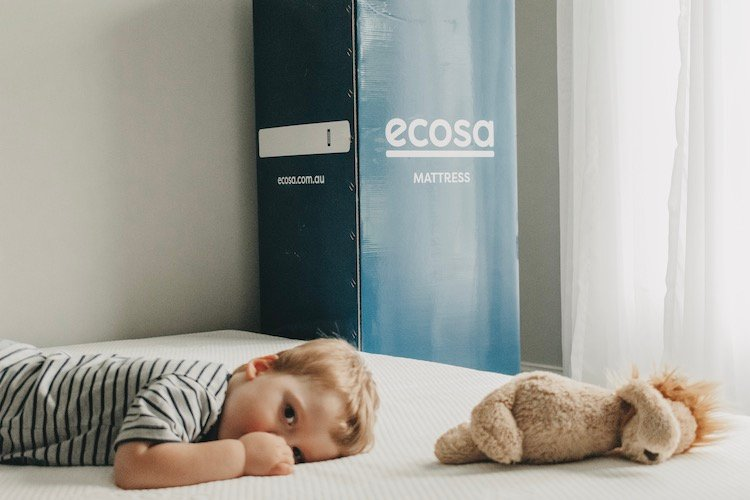 Dannii enjoying his new Ecosa mattress