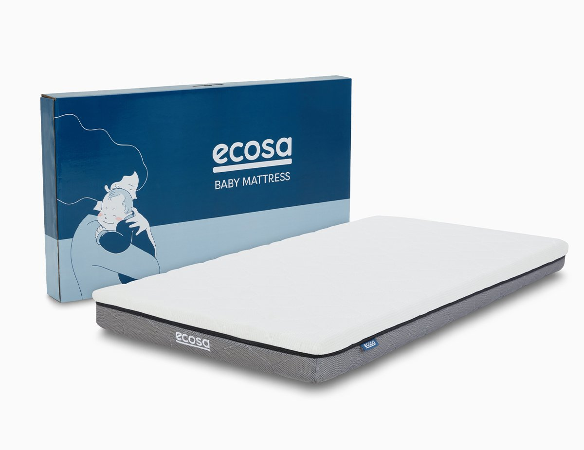image of the Ecosa Cot Mattress and box